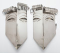 Sculpture, FRANZ HAGENAUER (Austrian, 1906-1986). Untitled (pair of sconces), circa 1970-1979. Nickeled metal. 20-1/2 x 12 x 5 inch... (Total: 2 Items)