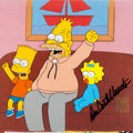 "Animation Art:Production Cel, The Simpsons ""The Homer They Fall"" Grampa, Bart, and MaggieProduction Cel Setup Signed by Dan Castellaneta (Fox, 1996...(Total: 7 Items)"