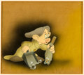 Animation Art:Production Cel, Snow White and the Seven Dwarfs Dopey Production Cel Setup(Walt Disney, 1937)....