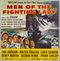 "Movie Posters:War, Men of the Fighting Lady (MGM, 1954). Six Sheet (79"" X 80""). War....."