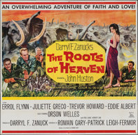 "The Roots of Heaven (20th Century Fox, 1958). Six Sheet (79"" X 80""). Adventure"