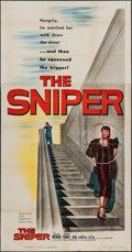 "Movie Posters:Crime, The Sniper (Columbia, 1952). Three Sheet (41"" X 79""). Crime.. ..."