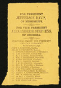 Confederate Notes:Group Lots, Confederate Virginia Electoral Ticket Printed on Brown Paper.. ...