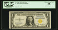 Error Notes:Ink Smears, Fr. 2306 $1 1935A North Africa Silver Certificate. PCGS ChoiceAbout New 55.. ...