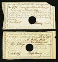 Colonial Notes:Connecticut, Connecticut Interest Certificates.. ... (Total: 2 notes)