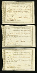 Colonial Notes:Connecticut, Connecticut Civil List 17s.7d; £2.15s; £4.10s 1794 Very Fine orBetter.. ... (Total: 3 notes)