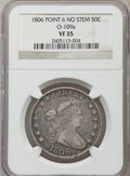 Early Half Dollars: , 1806 50C Pointed 6, No Stem, O-109a, R.3, VF35 NGC. ...