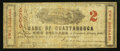 Obsoletes By State:Tennessee, Chattanooga, TN- Bank of Chattanooga $2 Aug. 1862. ...