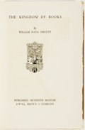 Books:Books about Books, [Books about Books] William Dana Orcutt. SIGNED/LIMITED. The Kingdom of Books. Boston: Little, Brown, [1927]. First ...