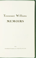 Books:Biography & Memoir, Tennessee Williams. SIGNED/LIMITED. Memoirs. Garden City:Doubleday, 1975. Edition limited to 400 numbered copies. ...