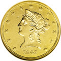 Liberty Eagles: , 1842 $10 Small Date AU58 NGC. One of the nicer 1842 Small Dateeagles we have offered, this example is notable for bright y...