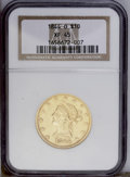 Liberty Eagles: , 1844-O $10 XF45 NGC. This straw-gold New Orleans eagle has nodistracting marks on either the devices or fields. Luster eme...