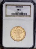 Liberty Eagles: , 1888-S $10 MS62 NGC. A radiant and original eagle whose peach-gold centers are framed with rich olive-gold luster. A small ...