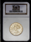 Liberty Eagles: , 1889 $10 AU55 NGC. Close to Mint State, and the surfaces are unperturbed aside from inconspicuous scuffs in the field benea...