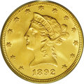 Liberty Eagles: , 1892 $10 MS66 PCGS. Remarkably preserved for this otherwise widely saved and available P-mint ten dollar, an issue that we ...