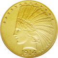 Proof Indian Eagles: , 1914 $10 PR66 NGC. A stellar coin for the specialist that boastsexcellent surfaces and delightful, satiny yellow color. Th...