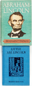 Books:Biography & Memoir, [Abraham Lincoln.] Pair of Books About President Abraham Lincoln. Various publishers and dates.... (Total: 2 Items)
