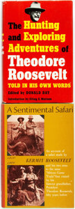 Books:Biography & Memoir, [Theodore Roosevelt.] Pair of Books Relating to Theodore Rooseveltand His Hunting Adventures. Various publishers and dates....(Total: 2 Items)