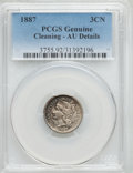Three Cent Nickels: , 1887 3CN -- Cleaning -- PCGS Genuine. AU Details. NGC Census: (4/82). PCGS Population (10/114). Mintage: 5,000. Numismedia ...