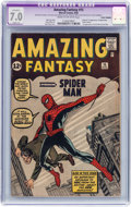 Silver Age (1956-1969):Superhero, Amazing Fantasy #15 Trimmed (Marvel, 1962) CGC Apparent FN/VF 7.0Slight (A) Cream to off-white pages....