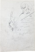 """Original Comic Art:Panel Pages, Barry Smith - Unpublished Pencil Pages 1 and 2 for Horror Story""""Old Enough to Know Better"""" with Vision Sketch Original Art Gr...(Total: 2 Original Art)"""