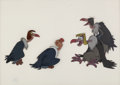 Animation Art:Production Cel, The Jungle Book Vultures Production Cel Setup (Walt Disney,1967)....