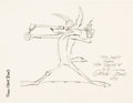 Animation Art:Production Drawing, Wile E. Coyote Sketch by Chuck Jones (Warner Brothers, 1977)....