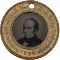 Political:Ferrotypes / Photo Badges (pre-1896), Bell & Everett: A Very Choice 1860 Ferrotype....
