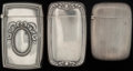 Silver Smalls:Match Safes, THREE GORHAM SILVER MATCH SAFES, Providence, Rhode Island, circa1909-1912. Marks to each: (lion-anchor-G), STERLING, B262...(Total: 3 )