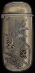 Silver Smalls:Match Safes, A GORHAM SILVER AND SILVER GILT MATCH SAFE, Providence, RhodeIsland, circa 1883-1884. Marks: (lion-anchor-G), STERLING,1...