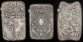 Silver Smalls:Match Safes, THREE GORHAM SILVER MATCH SAFES, Providence, Rhode Island, circa1889-1893. Marks to all: (lion-anchor-G), STERLING, (da...(Total: 3 )