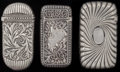 Silver Smalls:Match Safes, THREE GORHAM SILVER MATCH SAFES, Providence, Rhode Island, circa1886-1891. Marks to all: (lion-anchor-G), STERLING, (da...(Total: 3 )