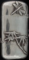 Silver Smalls:Match Safes, A SHIEBLER SILVER MATCH SAFE, New York, New York, circa 1900.Marks: (winged S), STERLING, 20A. 2-5/8 inches high (6.7c...