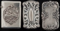 Silver Smalls:Match Safes, THREE BATTIN SILVER MATCH SAFES, Newark, New Jersey, circa 1900.Marks to all: STERLING-B, 172; 183; 184. 2-5/8 inches h...(Total: 3 )