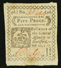 Colonial Notes:Connecticut, Connecticut October 11, 1777 5d Extremely Fine.. ...