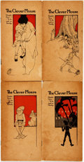 Books:Children's Books, Stella George and Stern Perry. The Clever Mouse. SanFrancisco: Paul Elder, 1916. Four parts. Some toning, soiling a...