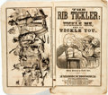 Books:Americana & American History, [Americana, Comic Illustration] The Rib Tickler: or Tickle Me,and I'll Tickle You. Fisher & Brother, [n.d., ca. 186...