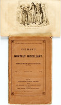 Books:Periodicals, [Periodical] Grenville Mellen and William Cutter, editors.Colman's Monthly Miscellany. July and August, 1839. One w...(Total: 2 Items)