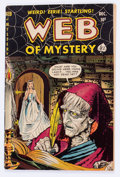 Golden Age (1938-1955):Horror, Web of Mystery #6 (Ace, 1951) Condition: VG+....