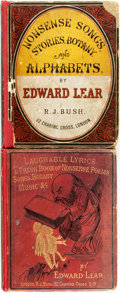 Books:Children's Books, [Edward Lear.] Nonsense Songs, Stories, Botany, andAlphabets. [with:] Laughable Lyrics: A Fourth Book ofNonse... (Total: 2 Items)