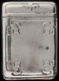 Silver Smalls:Match Safes, A SHREVE & CO. FOURTEENTH CENTURY PATTERN SILVER MATCHSAFE, San Francisco, California, circa 1900. Marks: SHR...