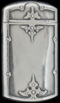 Silver Smalls:Match Safes, A SHREVE & CO. FOURTEENTH CENTURY PATTERN SILVER MATCHSAFE, San Francisco, California, circa 1890. Marks: SHR...