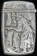 Silver Smalls:Match Safes, A KERR SILVER AND SILVER GILT INSURANCE MATCH SAFE, Newark, NewJersey, circa 1900. Marks: (fasces), STERLING. 2-5/8 inc...