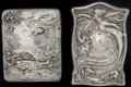 Silver Smalls:Match Safes, TWO BLACKINTON SILVER AND SILVER GILT MATCH SAFES, North Attleboro,Massachusetts, circa 1910. Marks to both: B (with sw...(Total: 2 )