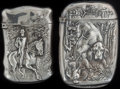 Silver Smalls:Match Safes, TWO AMERICAN SILVER MATCH SAFES, circa 1900. Marks to both:STERLING. 2-5/8 inches high (6.7 cm) (taller). 1.27 troyoun... (Total: 2 )