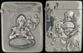 Silver Smalls:Match Safes, TWO AMERICAN SILVER MATCH SAFES, circa 1900. Marks to both:STERLING. 2-3/8 inches high (6.0 cm) (each). 1.73 troyounce... (Total: 2 )