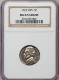 SMS Jefferson Nickels: , 1967 5C SMS MS67 Cameo NGC. NGC Census: (389/54). PCGS Population (245/7). ...