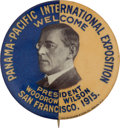 "Political:Pinback Buttons (1896-present), Woodrow Wilson: Rare 1 ½-inch Variant of the Familiar ""Man of theHour"" Design...."