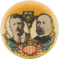 Political:Pinback Buttons (1896-present), Roosevelt & Fairbanks: Great Multicolor 7/8-inch Design with the California Bear....