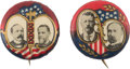 Political:Pinback Buttons (1896-present), Roosevelt-Fairbanks and Parker-Davis: Matched Pair of Choice 7/8-inch Jugates.... (Total: 2 Items)